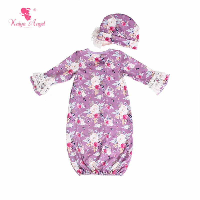 b5e6f235dcfa Kaiya Angel Hot Sales Long Sleeve Ruffled Toddler Gown Grils Spring Autumn Boutique  Outfits Newborn Baby