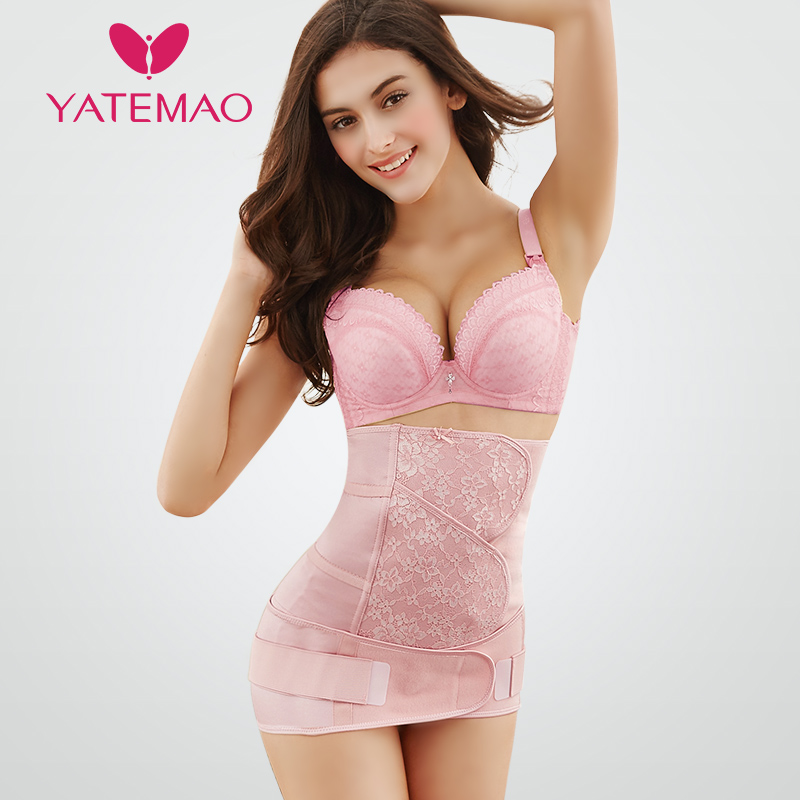 YATEMAO New Body Shaper for Women Waist Trainer Corset Slimming Belt Postpartum Belly Band Lace fascinating falbala flower lace ribbon women s corset