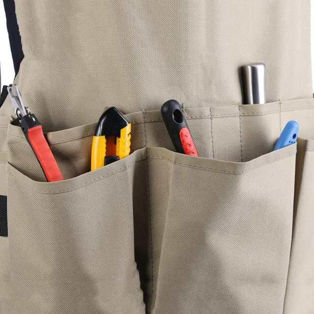 14 Pockets Technician Carpenter Car Repair Apron Work Clothes Garden Tool  Container Bag