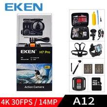 Eken A12 Ultra HD 4K 30FPS wifi экшн-камера водонепроницаемая 14MP 1080p 60fps H7pro Ambarella go подводная спортивная камера extreme pro