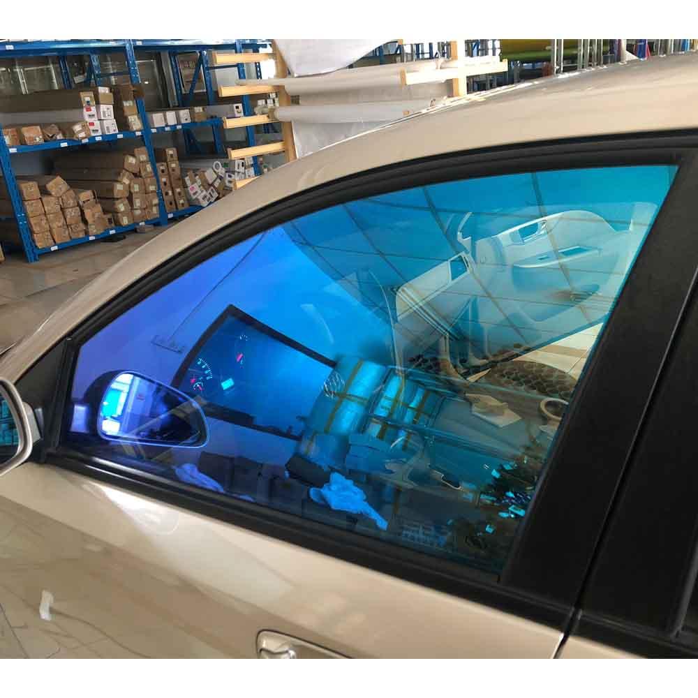 5x30ft caméléon fenêtre film bleu violet voiture fenêtre teinte 55% VLT