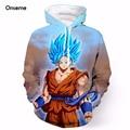 Das Mulheres dos homens de Moda Manga Longa Casacos Com Capuz Camisolas Com Capuz Anime Dragon Ball Z Goku Camisola 3D Hoodies Pullovers