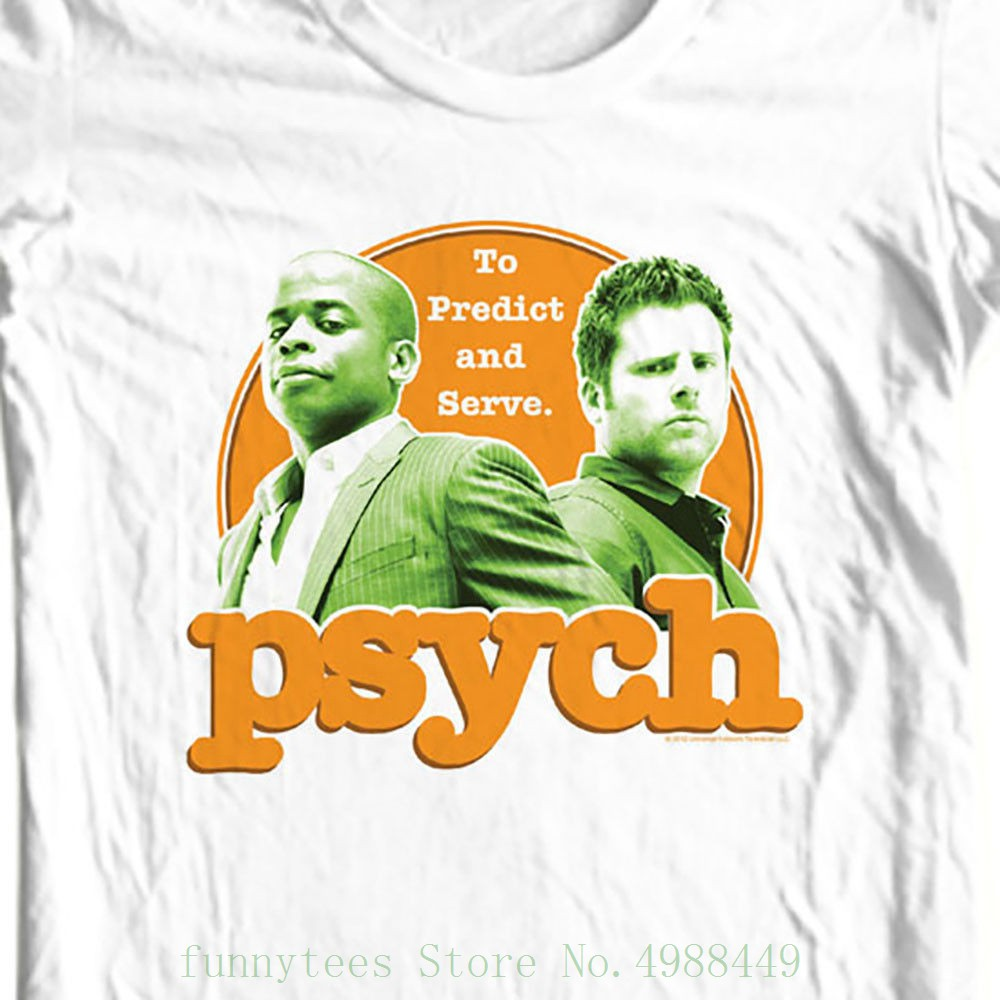 Psych To Predict & Servet Shirt Shawn And Gus Detective Tv Show Usa Nbc696 Custom Made Good Quality T Shirt image