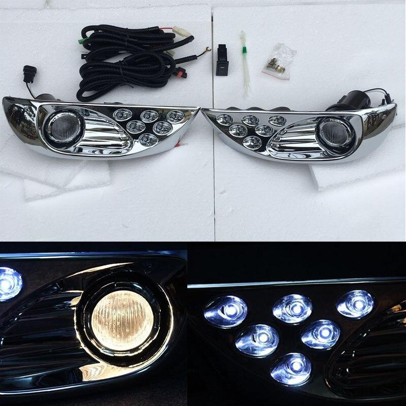 LED Front Fog Lamp Daytime Running Light For Toyota Land Cruiser Prado 120 FJ120 LC120 2003 2004 2005 2006 2007 2008 2009