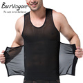 Burvogue Men Shaper Vest Slimming Breathable Belly Body Shaper Tank Top Underwear Girdles Shapewear Waist Cincher Shaper
