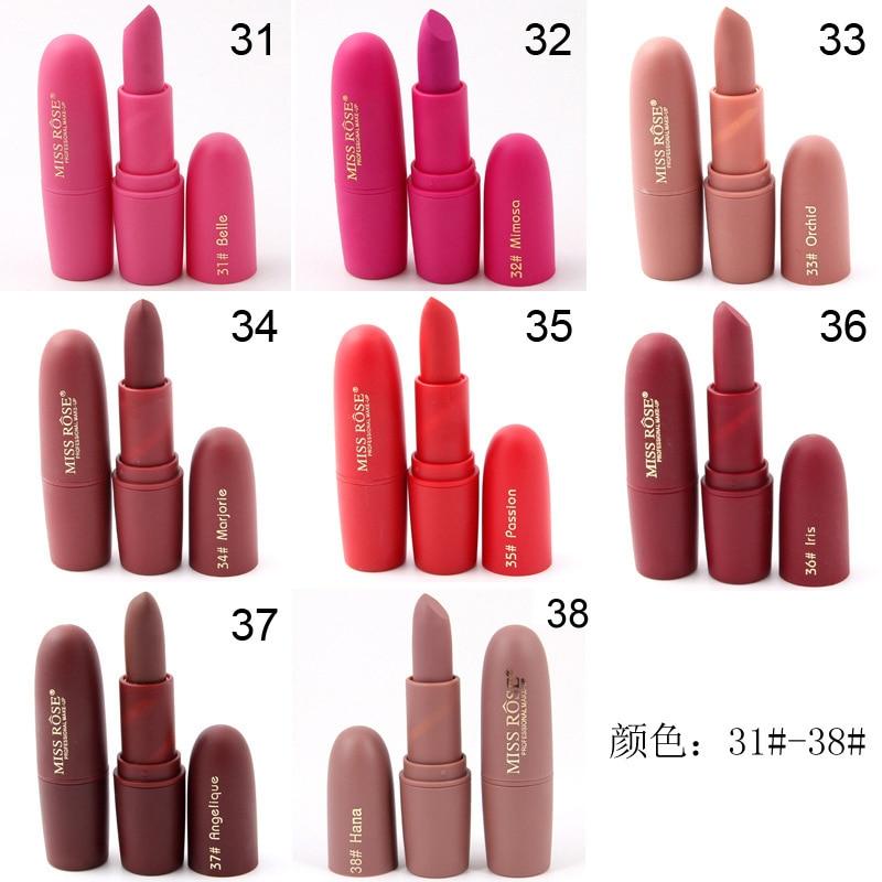 Qibest 34 Sexy Colors Nude Matte Lipstick Matte Velvet