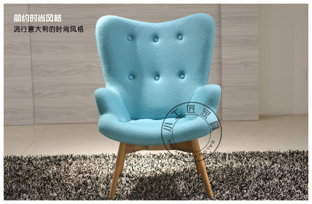 Small artisan furniture fabric sofa chair recliner chair lazy lounge ...