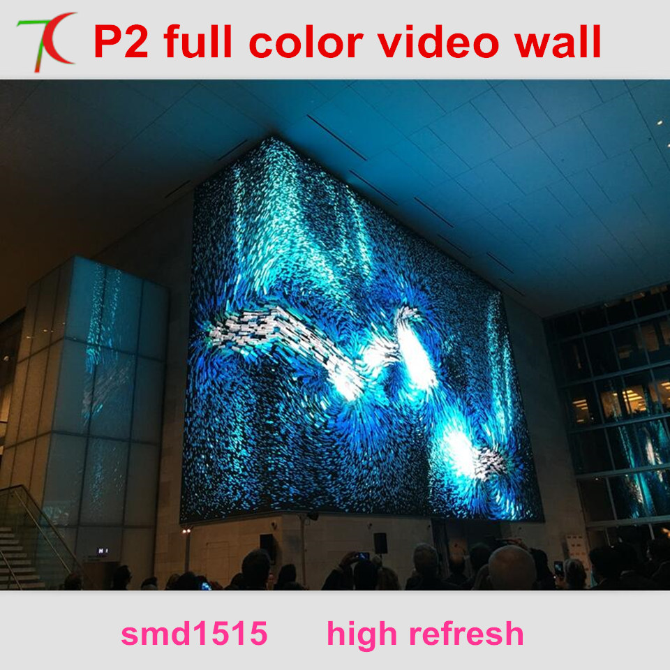 Led Expert : P2 Indoor Hd Full Color Led Video Wall Widely Use For Multi-media Classroom,metro Station,meeting Room,waiting Room