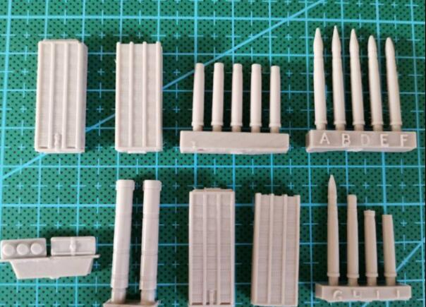 <font><b>1/35</b></font> Modified Parts <font><b>Resin</b></font> Weapons 1 Set <font><b>Accessory</b></font> image