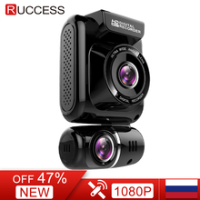 Ruccess GPS CAR DVR Dual Lens Dash Cam Full HD 1920*1080P Front and Rear Car Camera Recorder for Night Vision G-sensor WDR