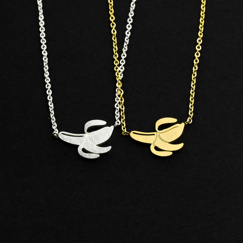 المختنق الذهب سلسلة الفاكهة الأناناس البطيخ الموز الفاكهة قلادة بيان القلائد مجوهرات الأزياء فحام فام BFF