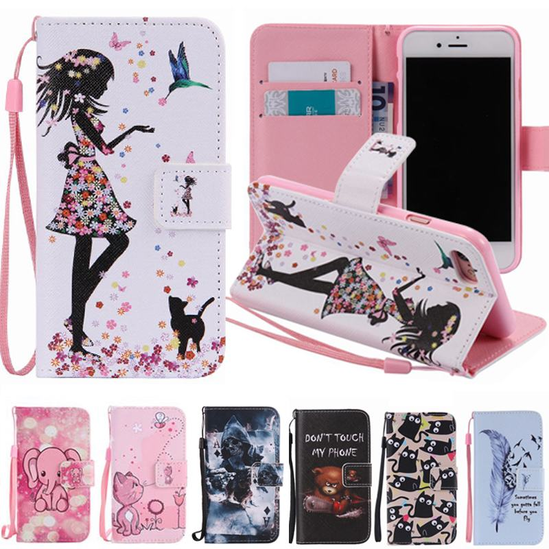 For Apple iPhone 7 Case Leather Wallet Silicone Phone Case iPhone 7 Plus Cover Flip Case with Stand Coque