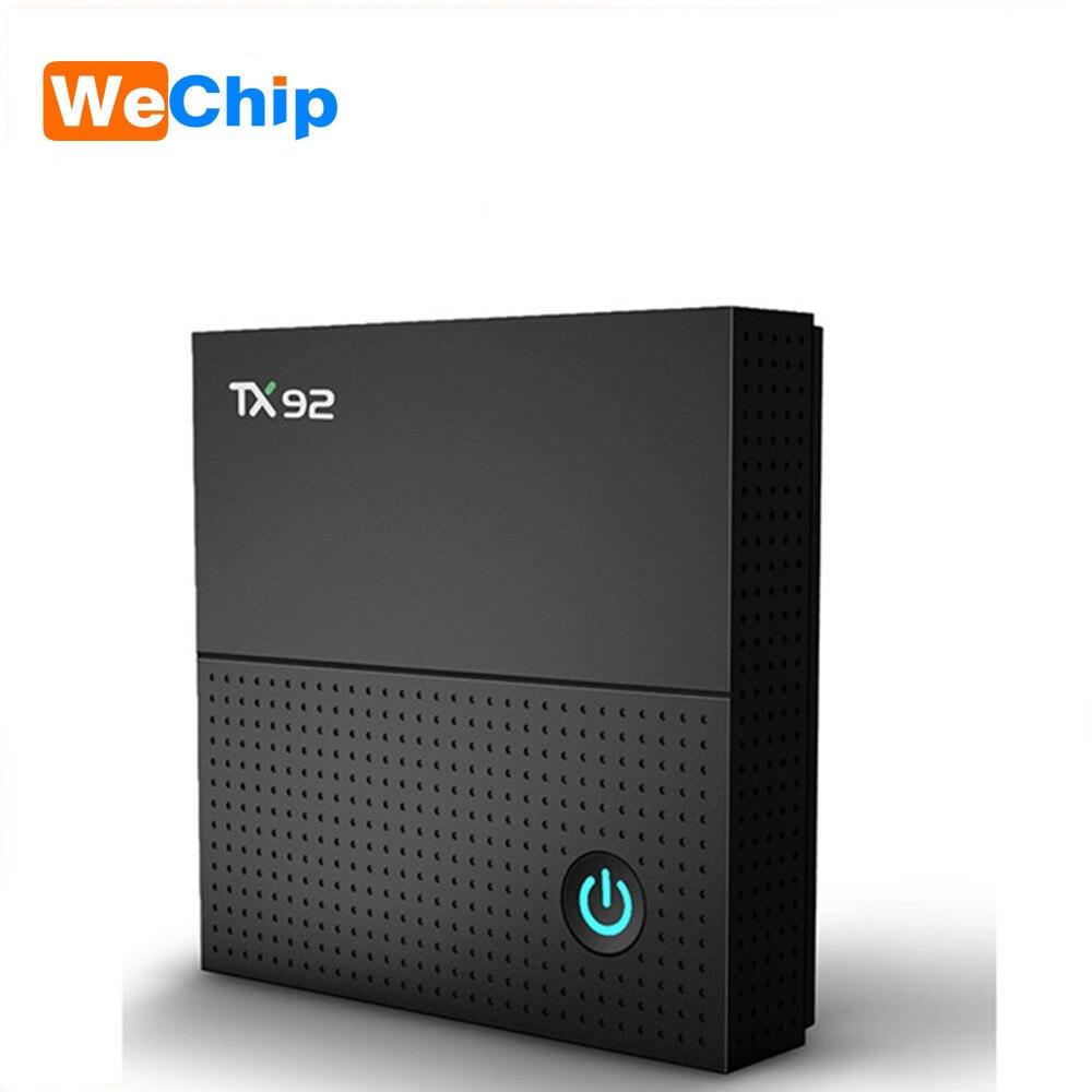 Wechip TX92 TV Box Android 7.1 TV Box Amlogic S912 Octa-core 3GB/64GB BT 4.1 Bluetooth 2.4G 5G WiFi 4K HD Smart OTT Media Player genuine beelink gt1 ultimate tv box android 7 1 amlogic s912 octa core ddr4 smart tv box bt 4 0 5g wifi android tv tv box