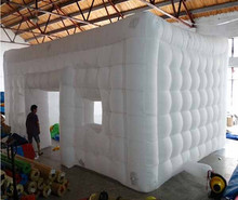 2017 factory customized white inflatable tent camping party tent for sale outdoor playground