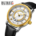 BUREI Luxury Brand Gold Watch Men Automatic Mechanical Stainless Steel  Waterproof Wristwatch Fashion Business Relojes Hombre
