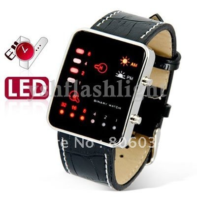 YM freeshipping Binary Japanese Multicolor LED Watch