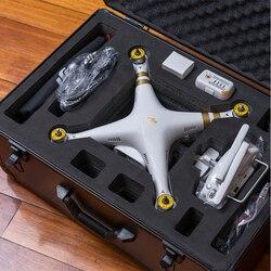 Estuche de aluminio personalizado de alta calidad DJI phantom 3 maleta protectora estándar personalizado especialmente personalizado para DJI 3 funda 550*370*230 MM