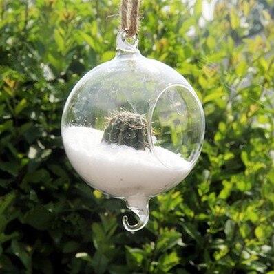 8 pcs/paquet diamètre = 12 cm Double jarret verre Globe Vase verre Terrarium avec ouvert ou trou mariage suspendus verre décoratif