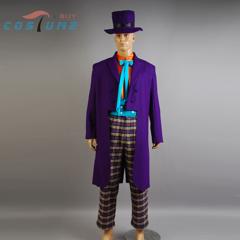 Batman Joker Jack Nicholson Outfits Cape Suit font b Jacket b font Hat Pant Gloves Movie