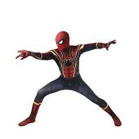 2018 Free Shipping Avengers COS Spiderman Homecoming Cosplay Costume Anime Full Bodysuit For Halloween Party For