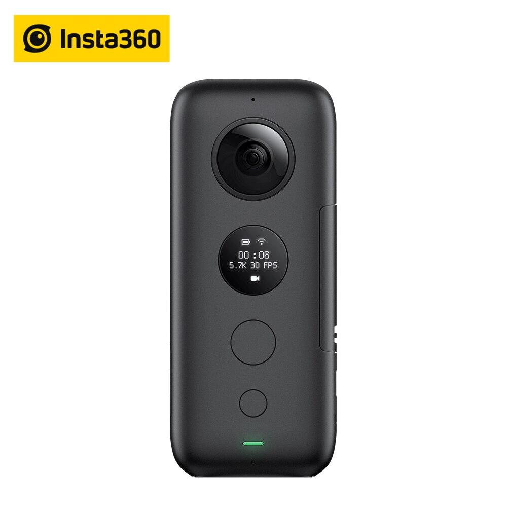 Insta360 ONE X Macchina Fotografica di Azione di VR 360 Macchina Fotografica Panoramica Per iPhone e Android 5.7 K Video 18MP Foto Invisibile Selfie bastone