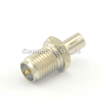 100 pcs/lot SMA to TS9 adapter RP SMA female plug to TS9 male plug connector adapter nickelplated straight