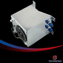 PQY RACING-10L Aluminium Fuel Surge tank mirror polish Fuel cell with foam inside/sensor PQY-TK38