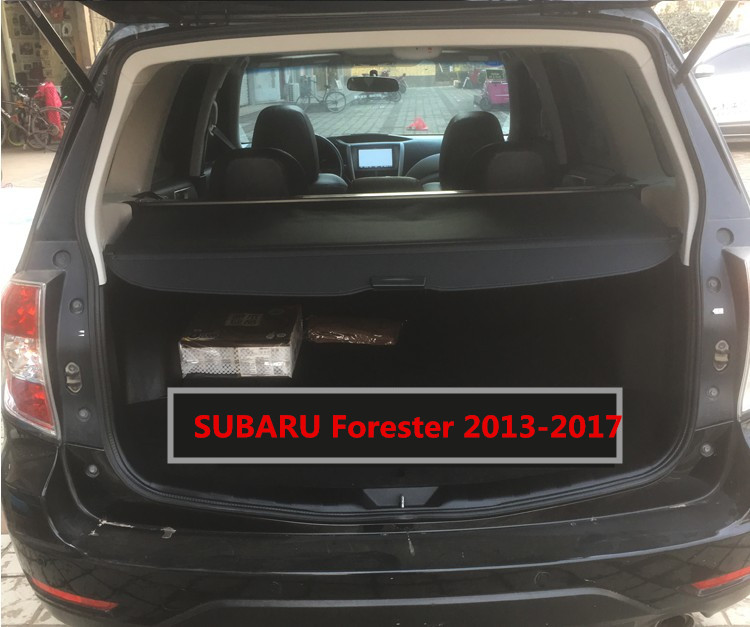 Car Rear Trunk Security Shield Cargo Cover For SUBARU Forester 2013.2014.2015.2016.2017 Manual Switch Tail Door Auto Accessories car rear trunk security shield cargo cover for dodge journey 5 seat 7 seat 2013 2014 2015 2016 2017 high qualit auto accessories