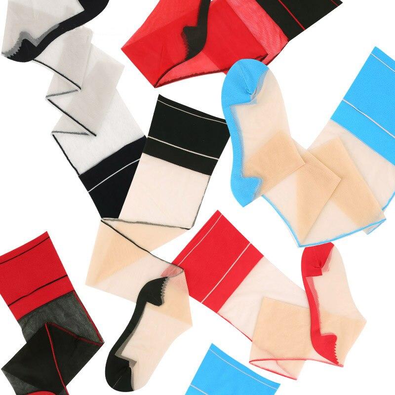 Hot Patchwork Sexy Stockings For Women Lingerie Retro Back Line Seam Japan Style Thigh High Medias Transparent Shine Stockings