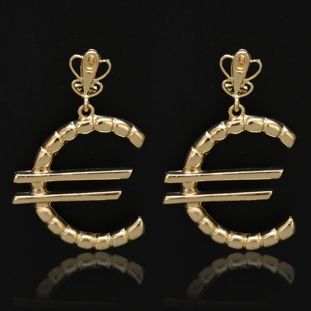 1 Pair Stainless Steel Ear Studs Earrings gold-color Round Shaped with Lobster clasp Push Back Earrings Women Men Earrings