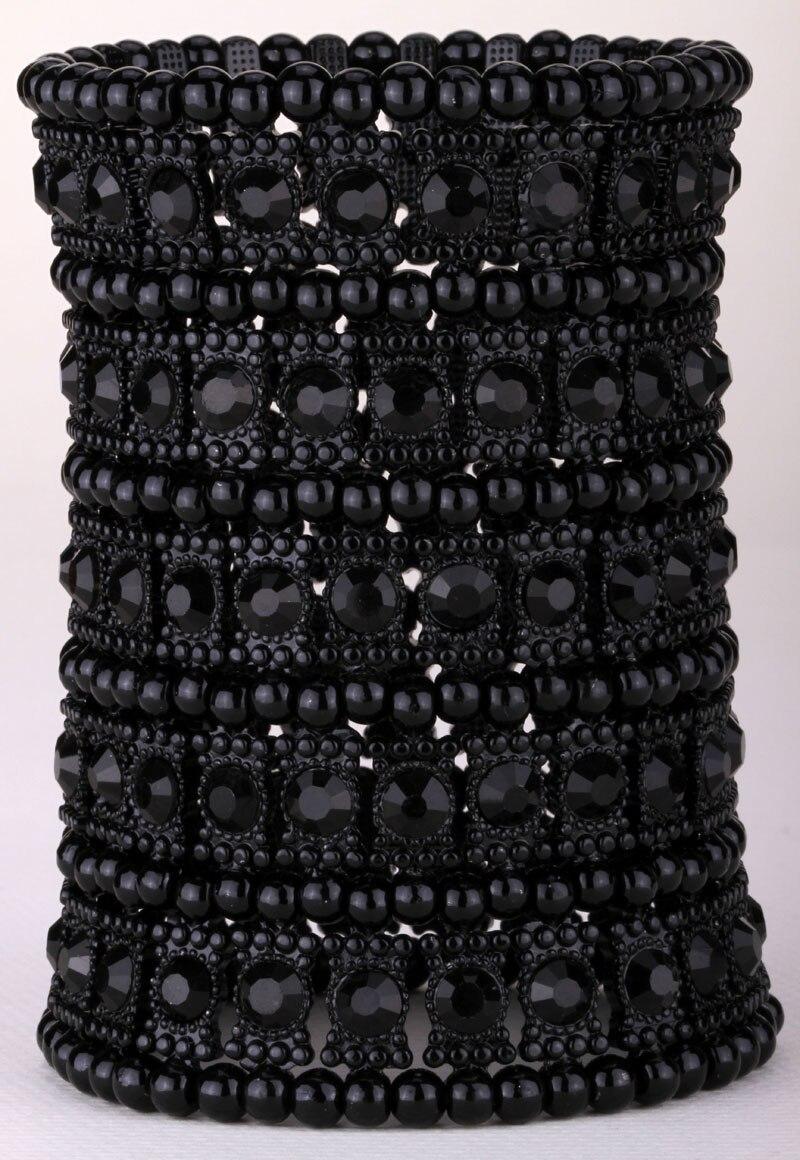 Multilayer stretch cuff bracelet s