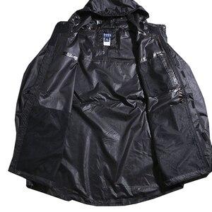 Image 2 - Chaquetas con capucha impermeable para hombre Otoño de talla grande 8XL 9XL 10XL 11XL 12XL chaqueta holgada de gran tamaño con cremallera