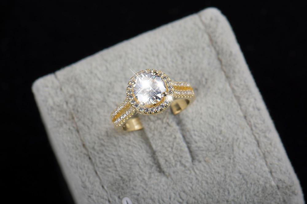 Sıcak satış Moda Lüks Kadınlar Nişan Takı 925 ayar Gümüş 5A - Kostüm mücevherat - Fotoğraf 5