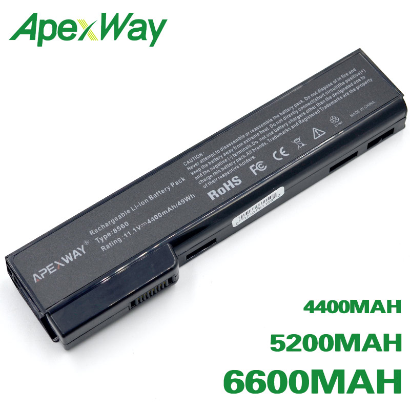 ApexWay <font><b>Battery</b></font> for HP EliteBook <font><b>8460p</b></font> 8460w 8560p for ProBook 6360b 6460b 6465b 6560b 6565b 628369-421 628664-001 image
