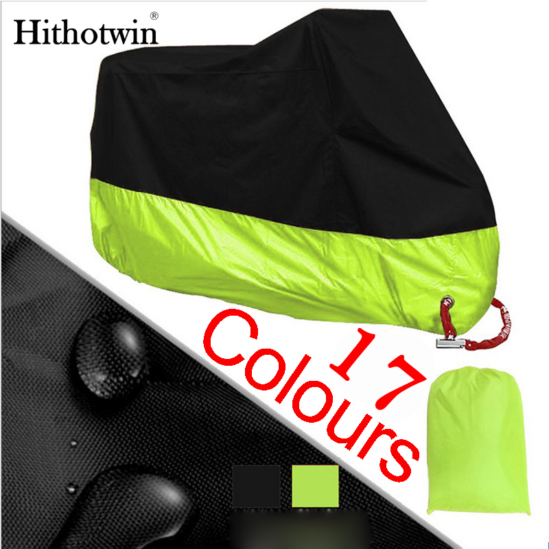 17colors M L XL XXL XXXL XXXXL Universal Outdoor Uv Protector Bike Rain Dustproof Motorcycle Cover For Scooter Covers Waterproof