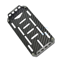 Black Carbon Fiber Battery Mounting Plate Board For RC 1 10 Axial SCX10 Rock Crawler Car