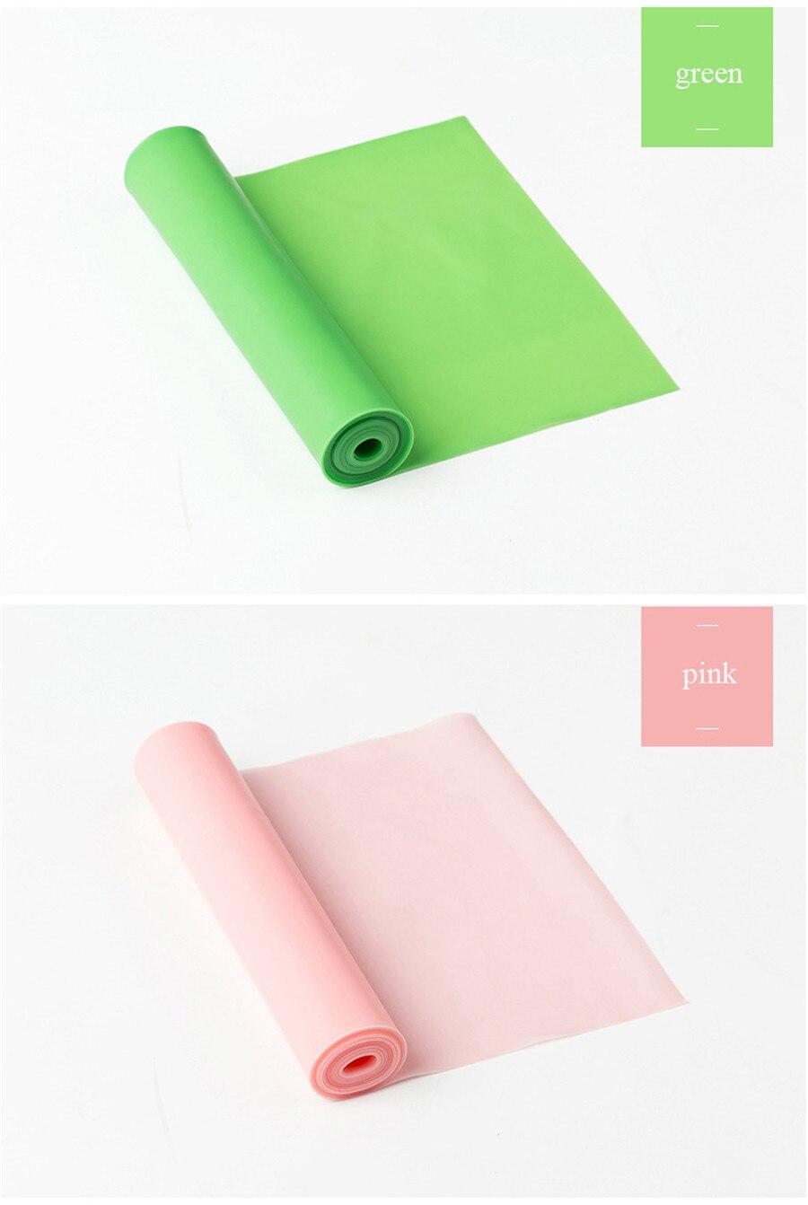 Fitness Elastic Band Indoor Pilates Rubber Resistance Bands Yoga Ribbon (9)