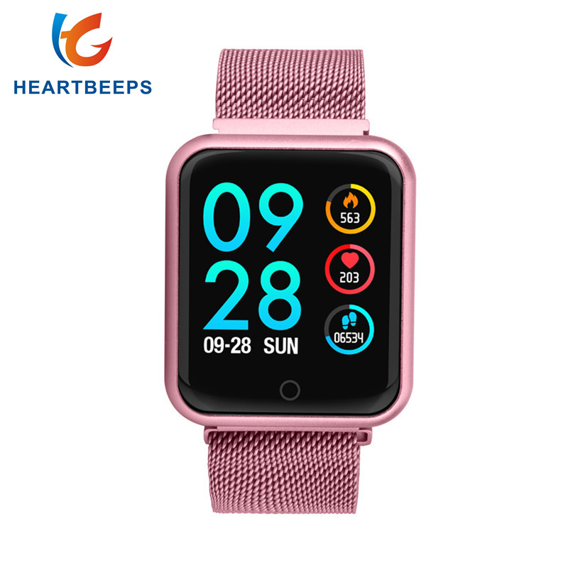 i P68 30M waterproo Fashion Smart Watch Women With Heart Rate Monitor Blood Pressure Blood Oxygen Sport Activity Tracker Fitness ogeda women smart watch blood pressure blood oxygen heart rate monitor smart fitness bracelet activity tracker support running