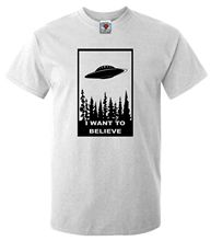I Want To Believe T-Shirt – Funny T Shirt Sci Fi Ufo Space X Fiction Files Alien New T Shirts Unisex Funny Tops Tee PLUS SIZE