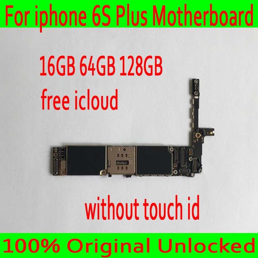 16 ГБ/64 ГБ/128 ГБ для iphone 6S Plus материнская плата без Touch ID, оригинал открыл для iphone 6S Plus платы, бесплатная доставка