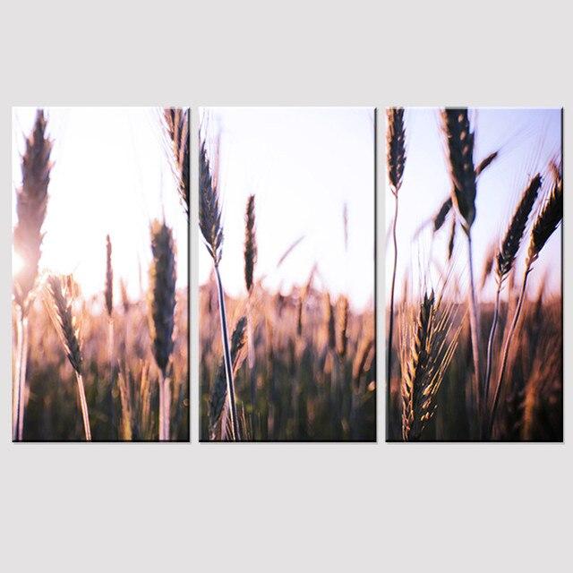 Ingelijste Canvas Schilderij Herfst Reed Plant A4 Gedrukt En Poster