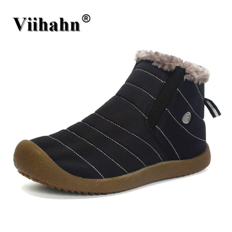 Viihahn zapatos corrientes hombres invierno nieve botas Deportivas Zapatos de felpa inferior antideslizante mantener caliente impermeable más tamaño 36- 48