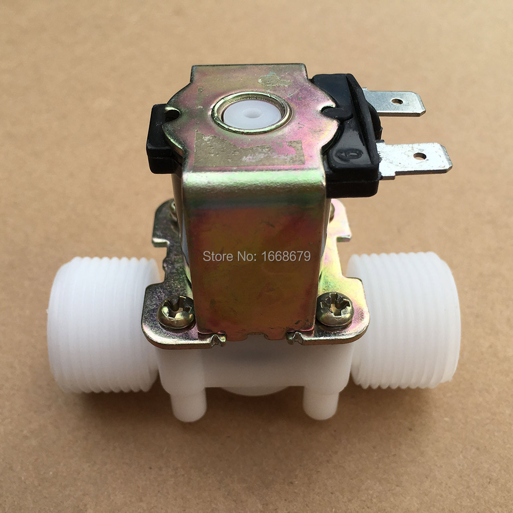 EBOWAN Normally Closed Water Solenoid Valve DC 12V DC 24V AC 220V Electric 3/4'' Valve Water Control Diverter Device