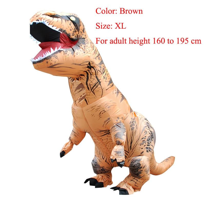 T REX INFLATABLE Dinosaur Costume Fancy Dress Cosplay Animal Jumpsuit Halloween Costumes of Men Carnival