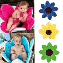 Для новорожденных, Детская ванна, складная, Цветочная, цветущая, ванна, противоскользящая, Детская душевая, детская, цветущая раковина, подушка для ванны, коврик для ванной