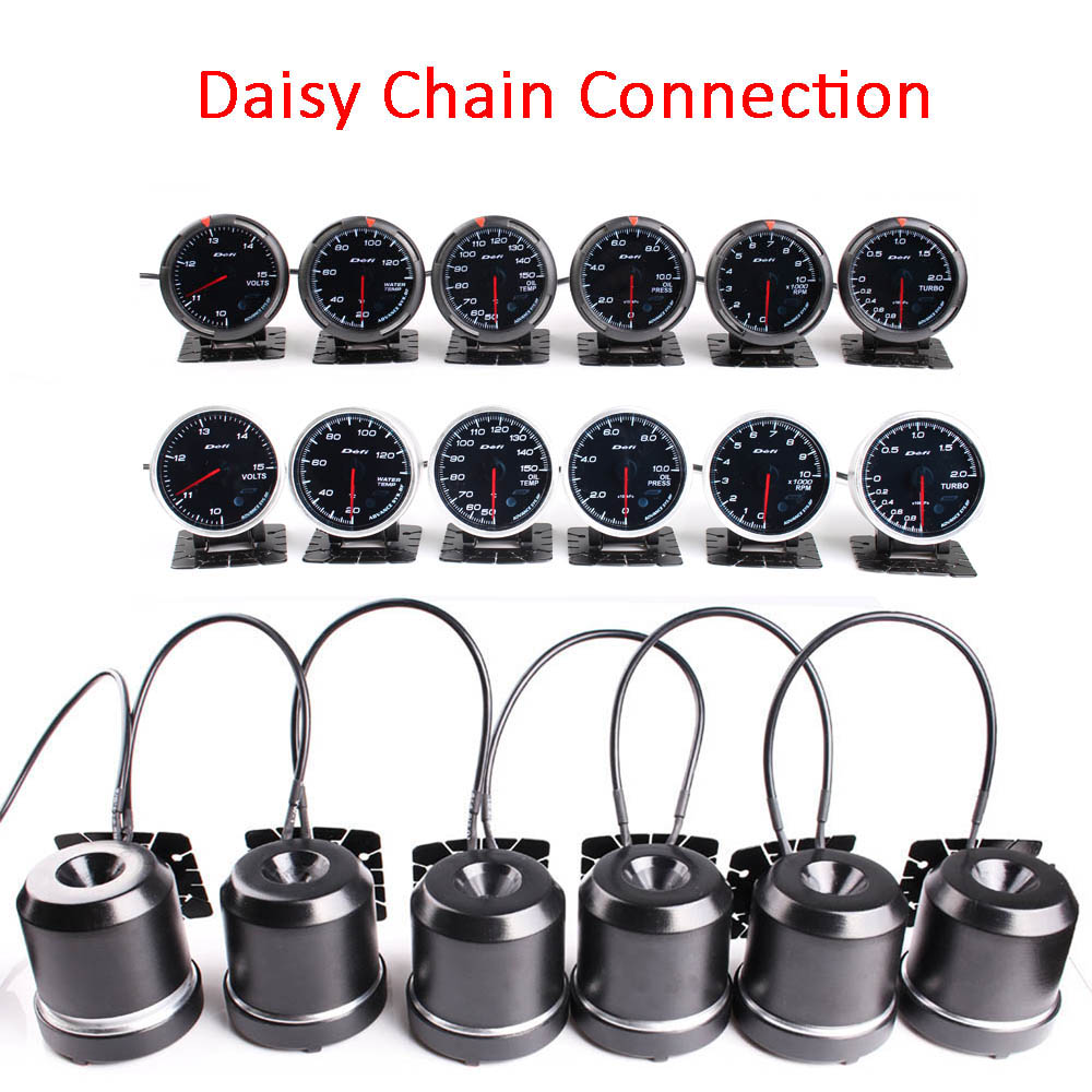 Defi BF Gauge Daisy Chain 2,5 дюймов 7 ЦВЕТОВ автоматический манометр метр Температура воды Температура масла пресс об/мин Turbo Boost с управление коробка