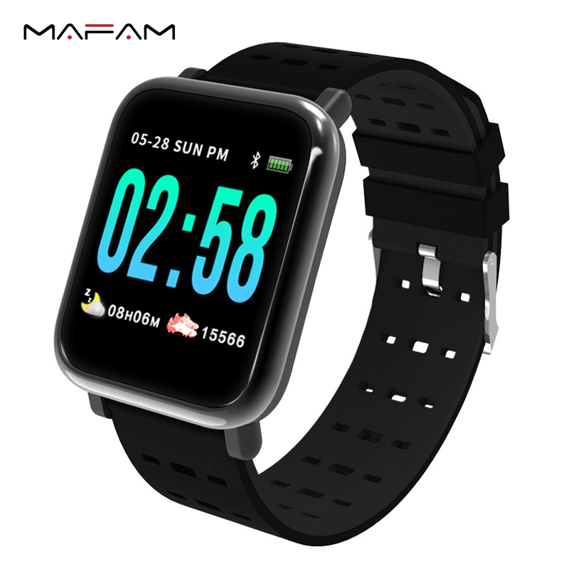 MAFAM A6 Smart Watch Men Women Heart Rate Monitor Sport Fitness Tracker Blood Pressure Waterproof SmartWatch Clock IOS Android