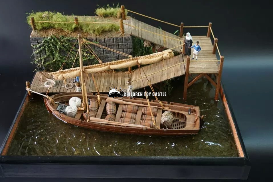 NEW Scale 1/35 Hi-Q Solid Wood Lifeboat Model Kits The Whole Boat Ribs Lifeboat Model