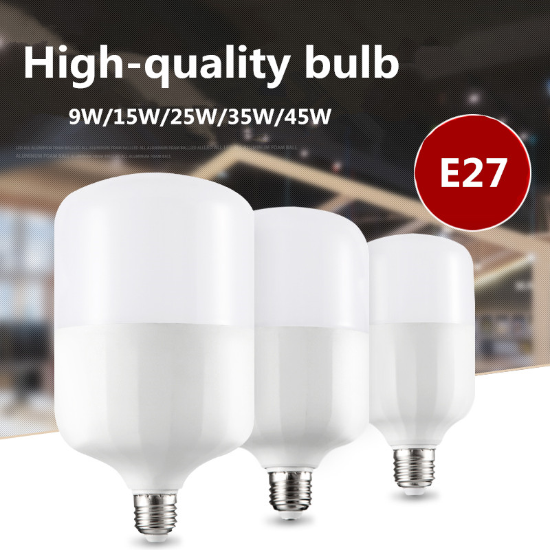 led energy-saving light bulb E27 super bright home bulb white high power 9W 15W 25W 35W 45W pure white shade Home improvement 4pcs led light bulb 4w smd 48led energy saving lights lamp bulb home kitchen under cabinet lighting pure warm white 110 240v