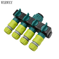wxrwxy Drip irrigation 4 way Tap garden Tap splitter irrigation hose faucet adapter cranes 1/2 hose connector 1pcs